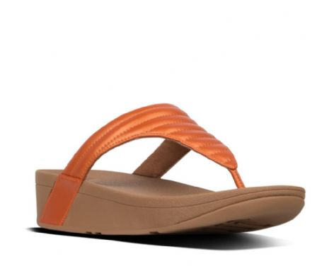 FitFlop Womens LOTTIE Padded Toe-Thongs Amber Ash Sandals
